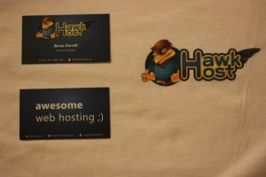 Hawk Host - Business Cards and T-Shirts