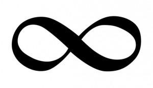 Infinity symbol, computer artwork