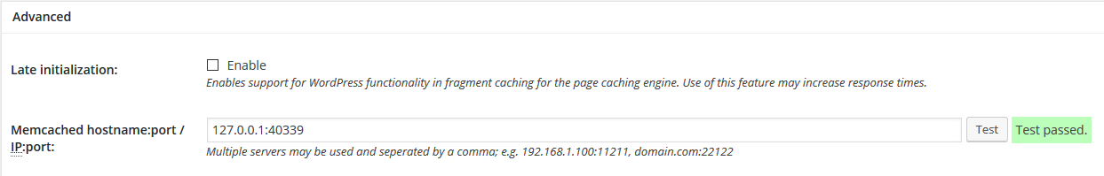 W3TC with Memcached