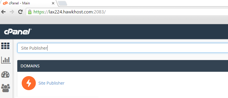 cPanel Site Publisher