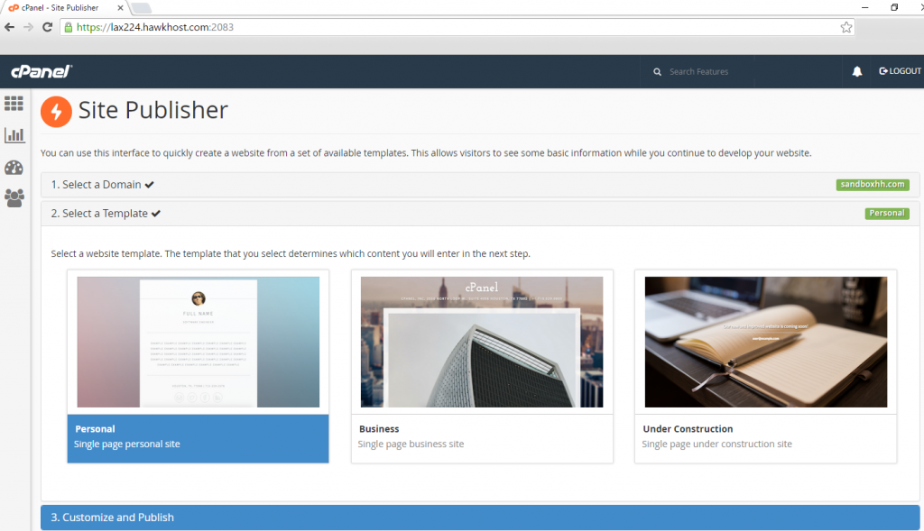 An Introduction to cPanels New Site Publisher | Hawk Host Blog
