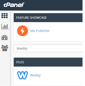 Weebly in cPanel
