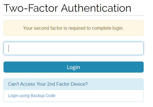 clientarea twofactor login